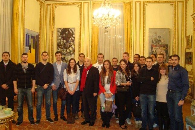 Sa Ambasadorom RS u Parizu 2012.