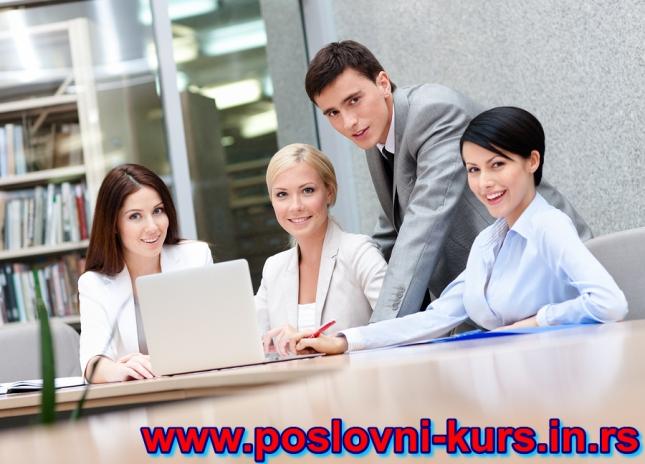 Poslovni kurs- logo text