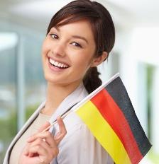 devojka sa nemackom zastavom